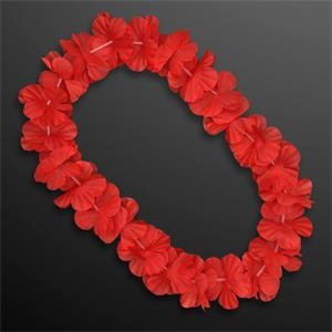Red Flower Lei Necklace  (Non-Light Up)