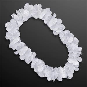 White Flower Lei Necklace (Non-Light Up)