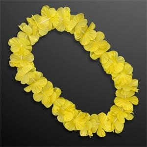 Yellow Flower Lei Necklace (Non-Light Up)