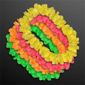 Neon Color Assorted Hawaiian Leis (Non-Light Up)