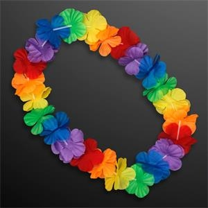 Rainbow Flowers Lei Necklaces (Non-Light Up)