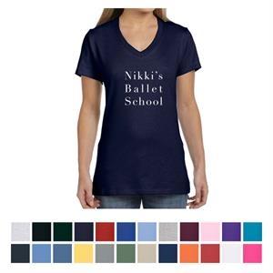 Hanes Ladies' Nano-T Cotton V-Neck T-Shirt