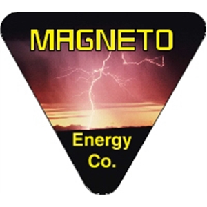 """2.75\"""" x 2.5\"""" Triangle - 4CP Hard Hat Decal"""