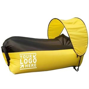 Inflatable Outdoor Lounger Hammocks With Sunshade Tent