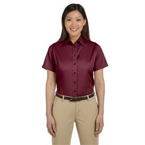 Ladies' Easy Blend(TM) Short-Sleeve Twill Shirt with Stai...