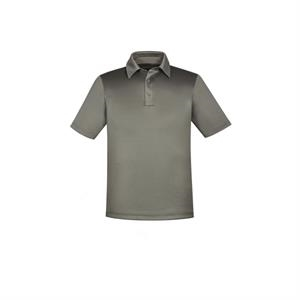 Men's Exhilarate Coffee Charcoal Performance Polo with Ba...
