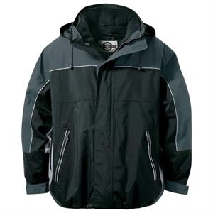Adult 3-in-1 Seam-Sealed Mid-Length Jacket with Piping