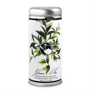 Ancient Green Leaves Tea in Tall Tin