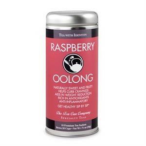 Raspberry Oolong Tea in Tall Tin