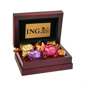 Small Wood Box with 6 Assorted Godiva® Chocolates