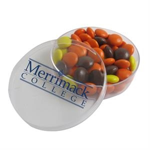 Small Round Acrylic Filled with Reese's Pieces® Candy