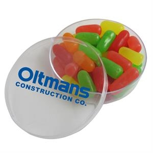 Small Round Acrylic Filled with Mike and Ike® Candy