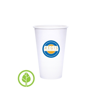 16 oz. Eco-Friendly PLA Single Wall White Paper Hot Cup