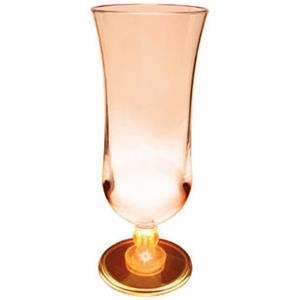 Light Up Glass - Hurricane - 15 oz - Clear with Orange LED