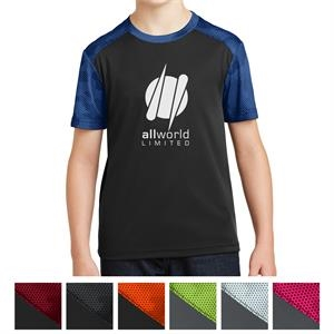 Sport-Tek Youth CamoHex Colorblock Tee