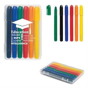 6-Piece Retractable Crayons In Case