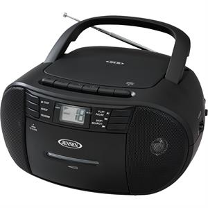 Jensen Portable Stereo CD Cassette Recorder with Radio