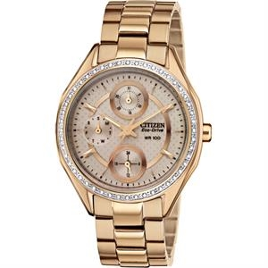 Citizen Womens Drive POV Rose Gold-Tone Eco-Drive Watch