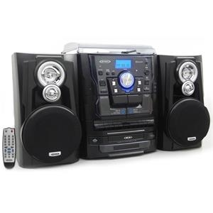Jensen Bluetooth Turntable, 3-CD Changer & Cassette Deck