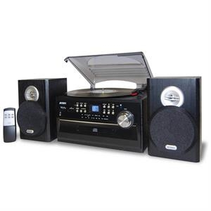 Jensen 3-Speed Turntable, Cassette Player, CD & AM/FM Radio