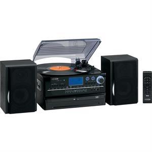 Jensen 3-Speed Turntable, 2 CD System w/Cassette & AM/FM