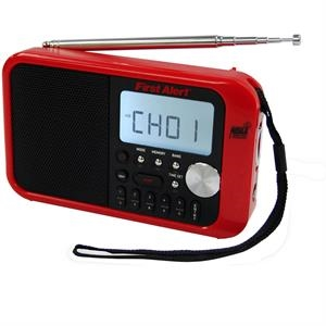 First Alert AM/FM Weather Band Clock Radio w/Weather Alert