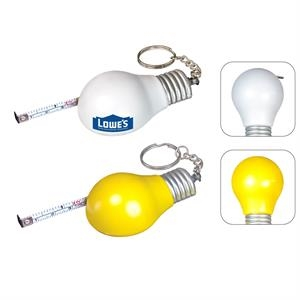 Light Bulb Measuring Tape Keychain