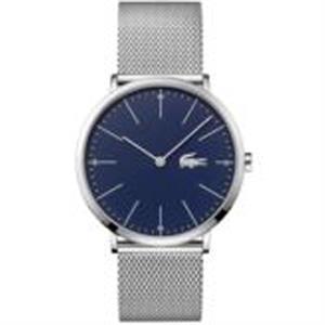 Moon Mens Watch. SS Case & Mesh Bracelet Blue dial