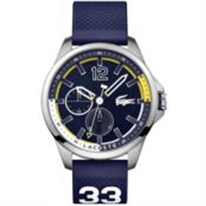 Capbreton Stainless Steel Case Blue Silicone Strap Blue Dial
