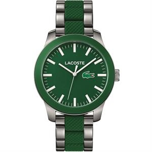 L.12.12 SS Case. SS/Green Silicone Strap. Green Dial