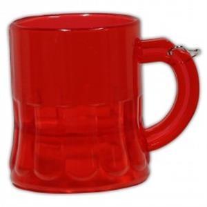 2 oz. Red Beer Mug Medallion with J-Hook