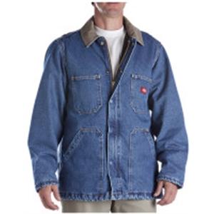 Men's Denim Zip Front Chore Coat