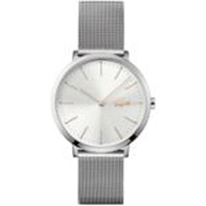 Moon Ladies Watch. SS Case & Mesh Bracelet Silver/White dial