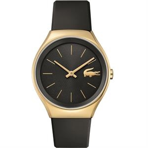 Valencia Ladies Watch Light Gold Plated S Case Black Dial