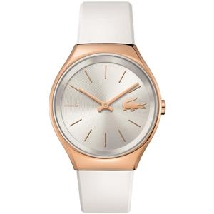 Valencia Ladies Watch Rose Gold S Case White Silver Dial