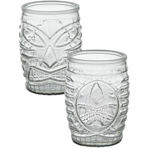 Tiki Glass - Deep Etched