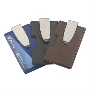 Smartphone faux leather adhesive I-Wallet clipper  Cash clip