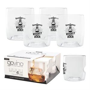 Dishwasher Safe Govino(R) 14oz Whiskey Glass 4 Pack