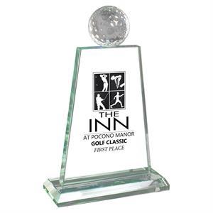 Jade Glass Golf Trophy Award
