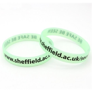 Glow In Dark Debossed Inkfilled Silicone Wristbands