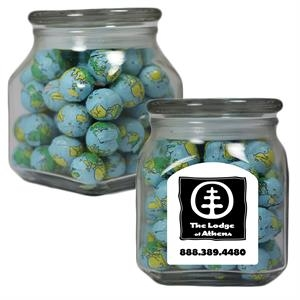 Apothecary Jar With Mints, Candy, Gum, Nuts, Chocolate