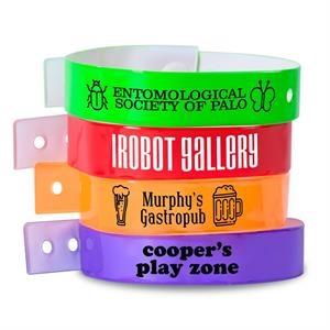 Custom L-Shaped Vinyl Wristbands