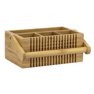 Bamboo Lattice Flatware Caddy