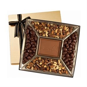 Small Custom Molded Chocolate & Nuts Delights Gift Box