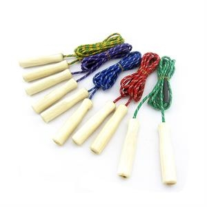 Budget Wooden Handle Jump Rope with Logo Imprinted