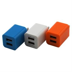 Dual USB Power Adapter Charger Wtih Custom Logo