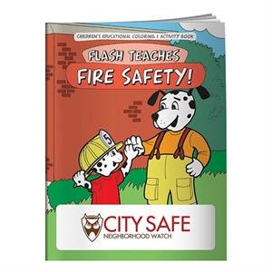 Coloring Book: Flash Teaches Fire Safety