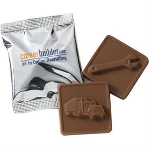 """2"""" x 2"""" Chocolate Square in Wrapper"""