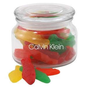 Assorted Fish in a Glass Jar with Lid