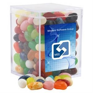 Jelly Bellys Candy in a Clear Acrylic Square Box